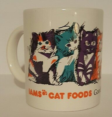 Iams Cat Foods Coffee Mug Colorful Group of Cats 10 oz.