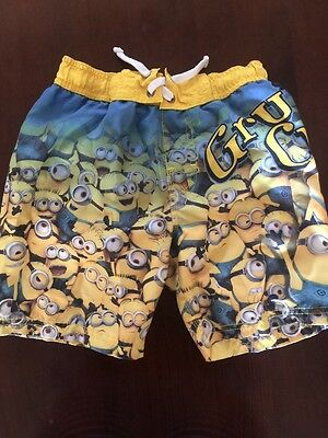 Boys Despicable Me Swim Trunks Size Can