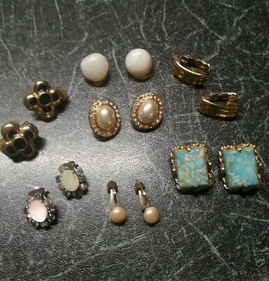 Mixed Lot of Ladies Clip-On Earrings (7).