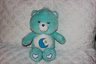 Care Bears Plush Doll * Bedtime Bear * Glow A Lot in the dark moon star 2003 VGU