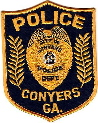 Conyers Police Patch Georgia NEW