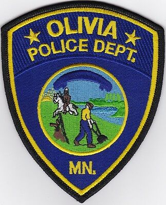 Olivia Police Department MN Minnesota MN Patch NEW!!