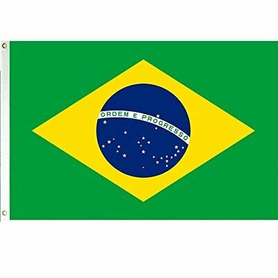 YALLN Brazil National Country Flag Outdoor Flags 3x5 Feet Brazilian Flag