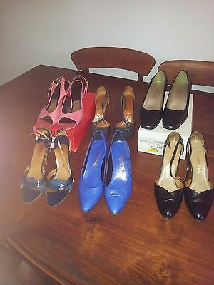 Bulk buy ladies leather shoes 6.5 and 7 multi colours all soft leather