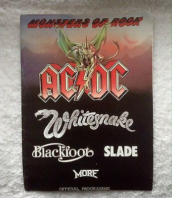 MONSTERS OF ROCK PROGRAMME, AC/DC, WHITESNAKE, etc GOOD CONDITION, 1981