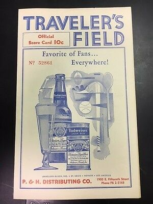 1956 Traveler's Field Official Score Card Chattanooga with Killebrew(R),Roseboro