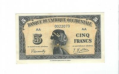 French West Africa - 5 Francs  1942