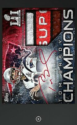 2017 Topps Huddle Super Bowl Champions Tom Brady Signature Relic *Digital Card*