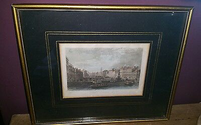 Antique Line Engraving W Bartlett Engraved by B Winkles Grand Parade Cork 1830