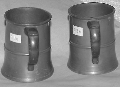 Matching pair of Northumberland pewter measures