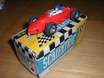 SCALEXTRIC 1960's C/62 FERRARI SHARKNOSE RED BOXED IN EXCELLENT CONDITION