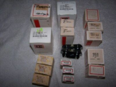 Nos, Lot Of 18, Cutler Hammer, Heater Coils,button,switch,coil, Contacts Block