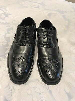 Black Boys Youth Men's Brogue Shoes Size 8