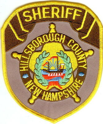 Hillsborough County Sheriff  New Hampshire NH patch NEW!!