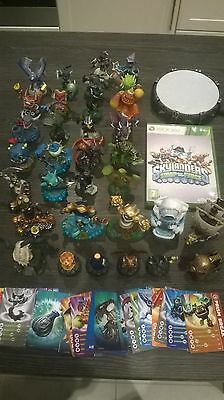 lot 33 skylanders mini figures xbox 360 + game + portal + 21 cards + 6 stickers