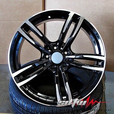 """19"""" Wheels 437 Style fits BMW 5 6 Series M6 Sport in Black Machined Rims"""