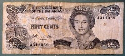 The Bahamas Government 1/2  Dollar 50 Cents Note From 1984, P 42