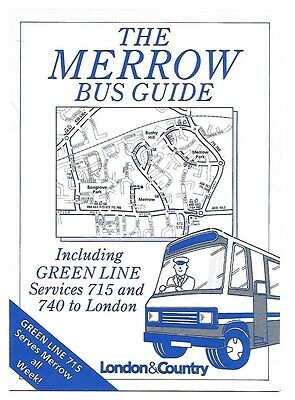 London & Country Merrow Bus Guide March 1990