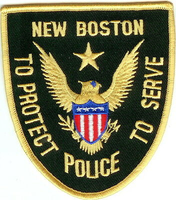 New Boston Police New Hampshire NH patch NEW!!
