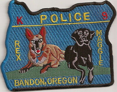 Bandon Police K9 Canine OREGON patch NEW