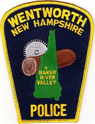 Wentworth Police New Hampshire  patch NEW