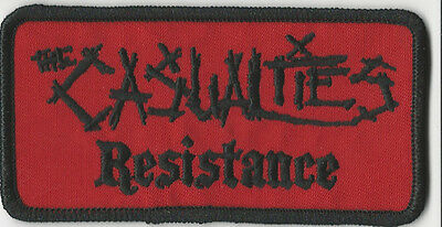 The Casualties- Resistance Namebar Embroidered Patch