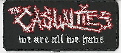 The Casualties- We Are All We Have Namebar Embroidered Patch