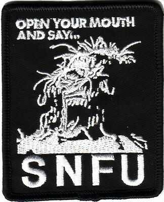 SNFU- Open Up Your Mouth Patch