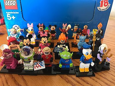 Lego Disney minifigures 71012 Full Set Of 18 Excellent Complete Series 1 Retired
