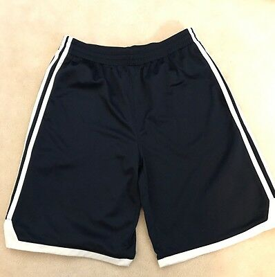 Boys Adidas Blue w/ White Stripe Size XL 18 Athletic Shorts