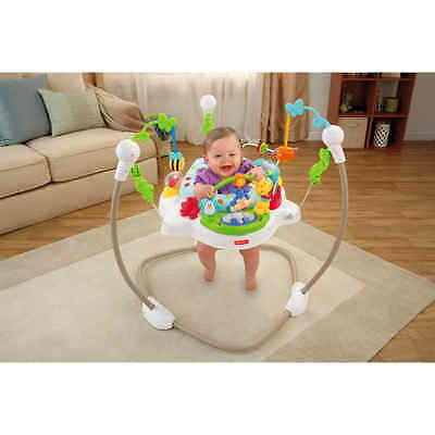 Fisher Price Zoo Party Jumperoo NEW Baby Activity Toys Comfy Seat Music Lights