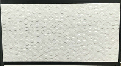 WHITE HEXAGON 300 x 600 RECTIFIED CERAMIC GLOSS FINISH FLOOR/WALL TILE