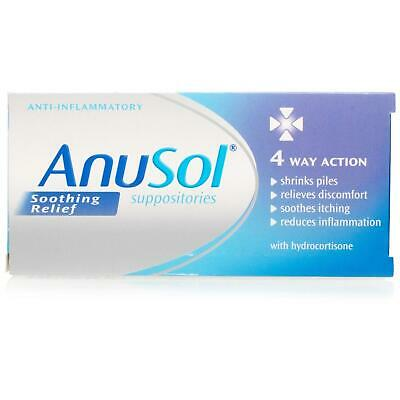 Anusol Soothing Relief Suppositories 4 Way Action **Free Delivery**