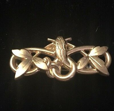 Vintage 1920's Gold Filled Brooch Art Nevo