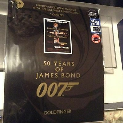 James Bond 50 Years Goldfinger Lobby Cards