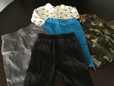 Infant Boy lot of 6 clothing Granimals The Place Tops and bottoms size 3-6 month