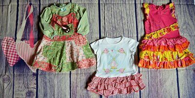Oilily Catimini Baby Girl Designer Clothes Bundle 3 Romany Dresses 1 Year VGC