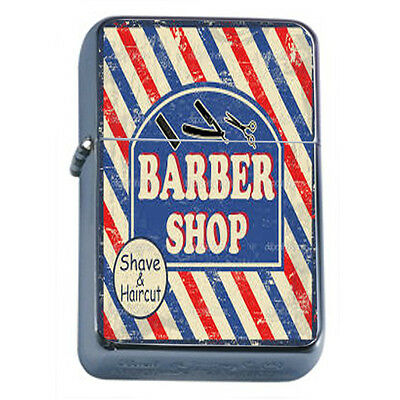 Vintage Poster D186 Windproof Dual Flame Torch Barber Shop Shave & Haircut