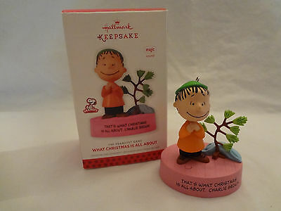 Hallmark The Peanuts Gang  WHAT CHRISTMAS IS ALL ABOUT Ornament 2013