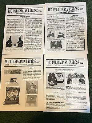1980 The Railroadiana Express Magazine, Lot of all 4 issues