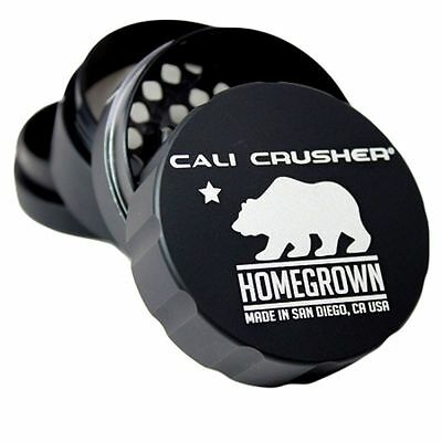 """New Cali Crusher Homegrown Herb, Spice & Tobacco 2.35""""  4 Piece Aluminum Grinder"""