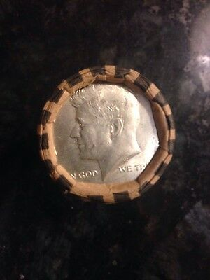 Unsearched Half Dollar Coin Roll With 1965 Silver Ender