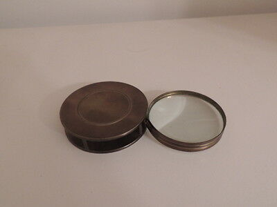 Vntage Brass flip out Desk Decor Magnifying Glass, 2 3/4""
