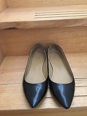 Country Road Women's Patent Leather Black Flats