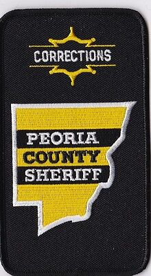 Peoria County Sheriff Corrections Police Patch Illinois IL NEW!!
