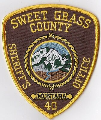 Sweet Grass County Sheriffs Office Police Patch Montana MT NEW !!!