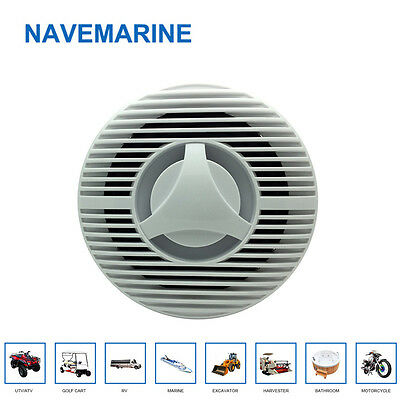 """Pair Marine Blutooth  Boat  Speakers White  6.5"""" 2-Way 120W New"""