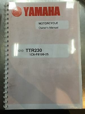 Yamaha Owners Manual for a TTR230 2010