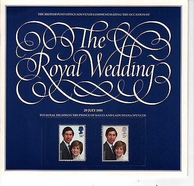 British Post Office Souvenir of the 1981 Wedding   Prince of Wales & Lady Diana