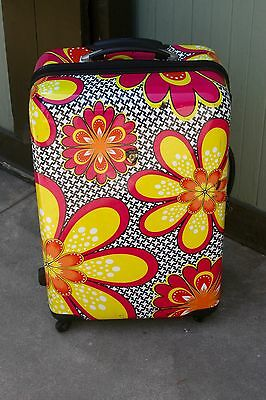 Heys Romero Britto Rolling Multi Color Four Wheel Suitcase Luggage 28""